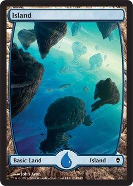 Zendikar Full Art Island - Zendikar Basic Land - Blue Mana