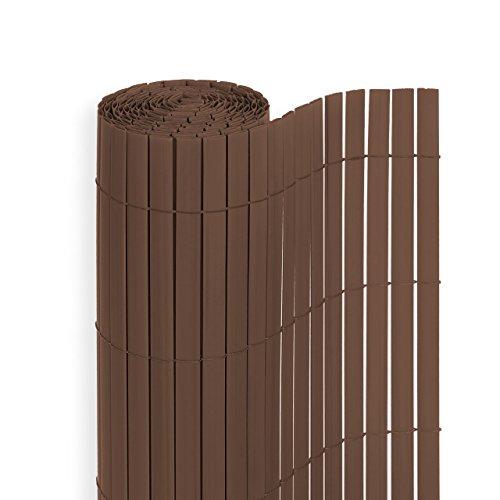 PVC Sichtschutzmatte in der Größe 80 x 300 cm, Farbe: Braun