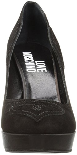 Chunky Black Moschino Love Platform Women's Pump wZHnxUq7E