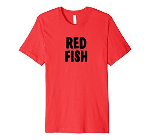 Mens Red Fish Group Halloween Costume Premium T-shirt 2XL Red