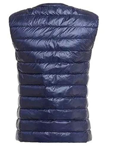 Vest amp;E Zipper H Jacket Blue Lightweigth Navy Waistcoat Puffer Women Packable Down zqqOxwUdf