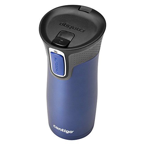 Contigo AUTOSEAL West hook vacuum pressure Insulated Stainless material holiday Mug along with basic and easy nice and clean eyelid 16oz profound Blue Commuter holiday Mugs