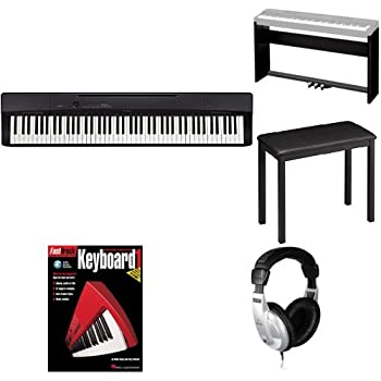 casio privia px160bk 88 key full size digital piano bundle with cs 67p stand sp33. Black Bedroom Furniture Sets. Home Design Ideas