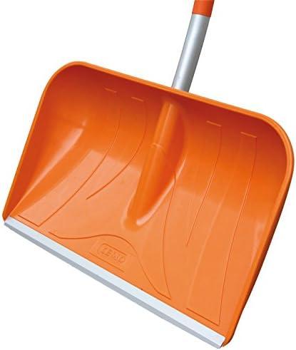 CEMO GRP Snow Shovel with D-Handle, Orange/Silver, 161cm