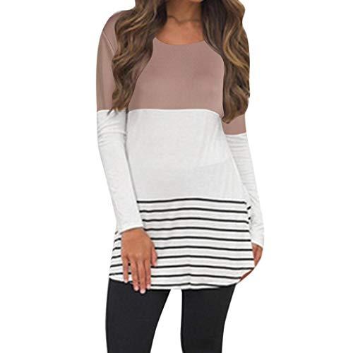 Clearance Women Shirt LuluZanm Back Lace Long Sleeve Block Tops T-shirts Blouses
