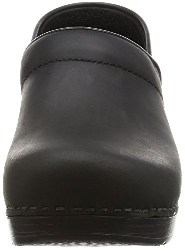Professional Black Leather Dansko Donna in Nero Oiled Pelle Zoccoli nwISf