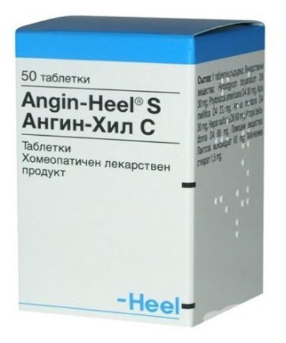 Heel Angin - Homeopathy For Acute And Chronic Tonsillitis, Pharyngitis - 2X50 Tablets ()