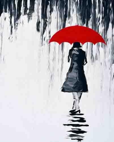 Color blanco y negro rojos Hd Impresión de lienzo, diseño con ...
