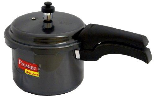 Prestige Deluxe Hard Anodized Black Color Pressure Cooker, 3-Liter (Black Pressure Cooker)