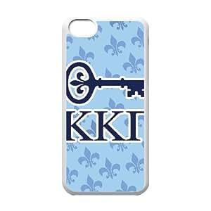 Cute TPU Kappa Kappa Gamma Key iPhone 5c Cell Phone Case White