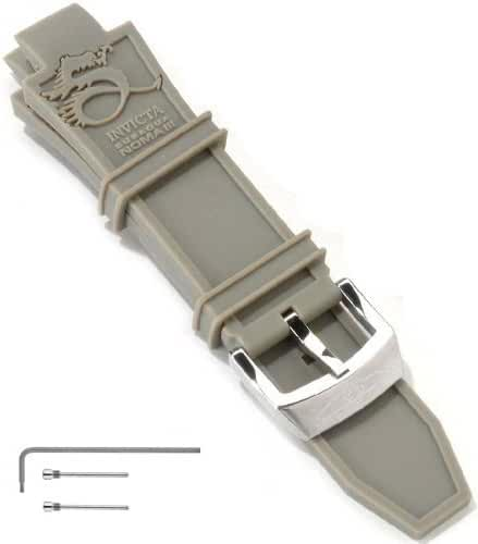 Invicta Subaqua Noma III 28 mm Grey Polyurethane Strap Band (Fits most Subaqua Models)