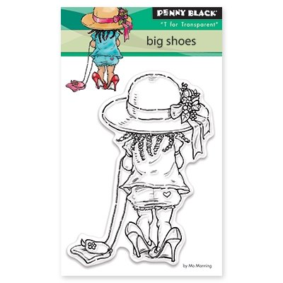 """Penny Black Clear Stamps 3""""X4""""-Big Shoes"""