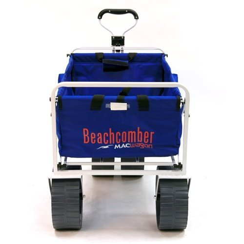 mac-sports-heavy-duty-collapsible-folding-all-terrain-utility-beach-wagon-cart-blue-white