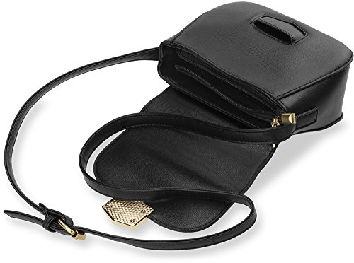 kleine elegante Damentasche Schultertasche Messengertasche steife Ausführung rosa