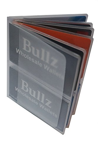 Set of 2 Heavy Duty Vinyl 6 Pages Hipster Wallet Inserts for Mens Wallets MADE IN (Hipster Credit Card Wallet)