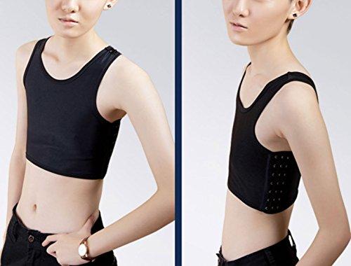 Lesbian Plus Size Chest Binder Women Super Flat Breast Corset Compression Les Tank Tops XXL Black