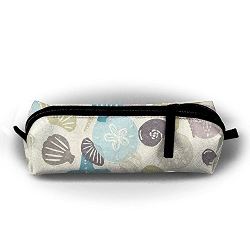 CHC40 Seashells Pencil Case Cosmetic Bag Coin Pen Holder Stationery Pouch Zipper Makeup Storage