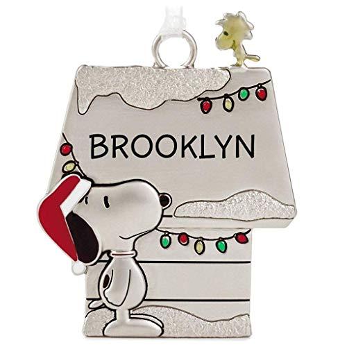 (Hallmark Brooklyn Peanuts Snoopy and Woodstock Charmers Metal Christmas Ornament)