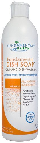 Fundamental Dish Soap - Natural Dish Soap for Hand Dish-Washing (Real Orange Oil)- 12 oz.