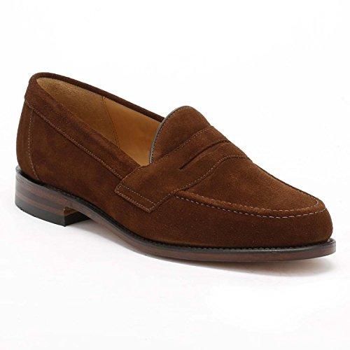 Loake Eton Suede Brown Saddle Men's Loafers Brown rpqOrw