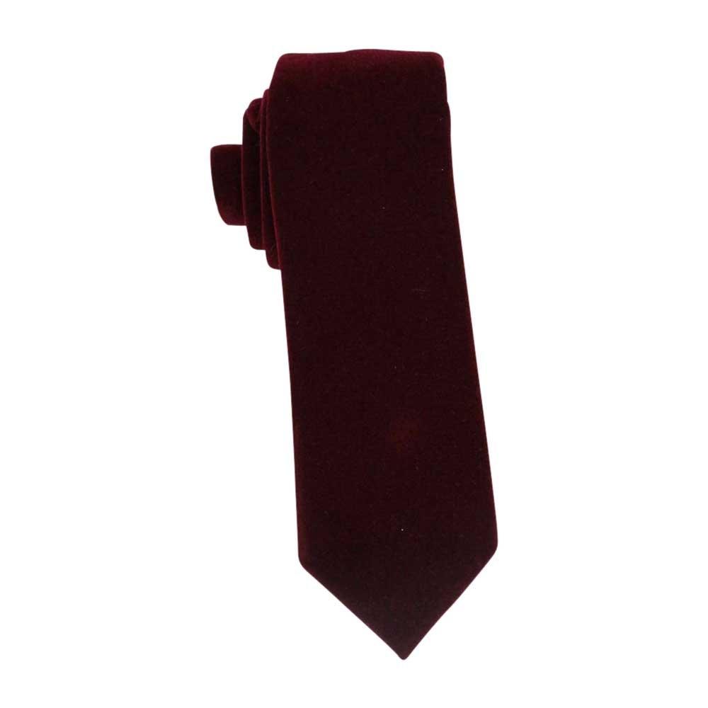 AZAR Velvet handmade Tie Modern Medium 2.75 in (7 cm) Wide | 60 Inches Long (BURGUNDY)