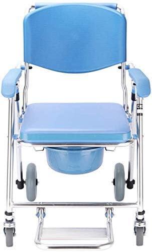 無効妊娠高齢折りたたみモバイル便座用ホイルポータブル浴室椅子便座と便器1椅子多機能携帯ベッドサイド便器4
