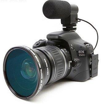 MIC-109 Externo Mini micrófono estéreo para Canon 1200d, 1100d ...