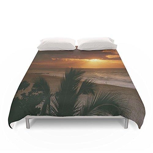 Society6 North Shore Sunset Hawaii Duvet Covers King: 104'' x 88'' by Society6