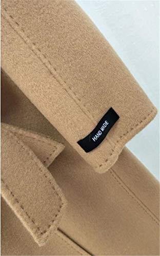 Cappotti Color Lunga High Autunno Cachemire Moda Lana Cappotto Camel Manica end Doppio Inverno Collo Di Rfwqr6R
