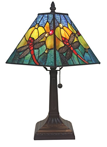 Amora Lighting AM288TL08 Tiffany Style Dragonfly Table Lamp