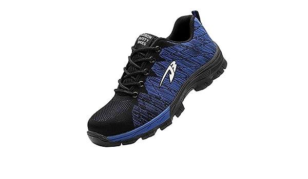 ღLILICATღ Zapatos de Seguridad para Hombre Transpirable Ligeras con Puntera de Acero Zapatillas de Seguridad Trabajo, Calzado de Industrial y Deportiva: Amazon.es: Deportes y aire libre