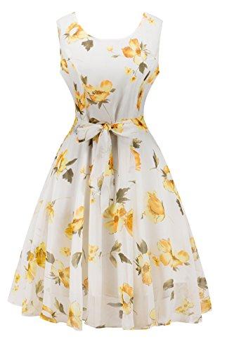 Yeokou Womens Sleeveless Chiffon Hepburn product image