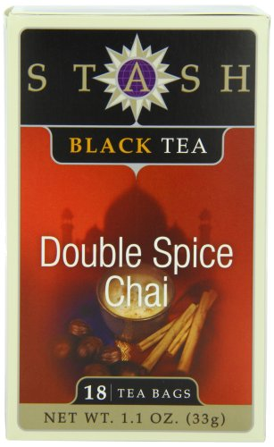 Stash Tea Double Spice Chai Black Tea, 18 Count Tea Bags in Foil (Pack of (Chai Spice Tea Bags)