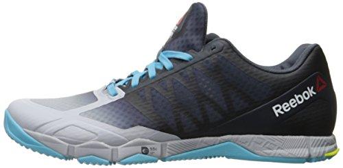 Reebok Women's Crossfit Speed TR Cross-Trainer Shoe, Cloud Grey/Royal Slate/Crisp Blue/Hero Yellow, 5 M US