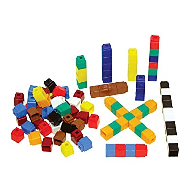 Unifix Cubes, Ten Assorted Colors, Set of 500: Industrial & Scientific
