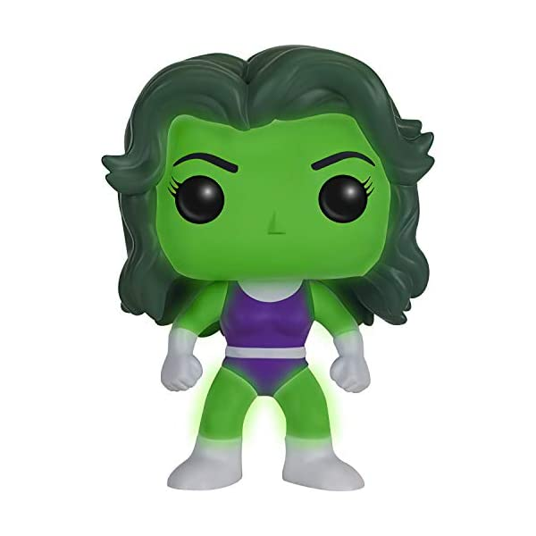 41Y1wNfrdJL She-Hulk [Glow-in-Dark] (Comikaze Exc): Funko Pop! Vinyl Figure Bundle with 1 Compatible 'ToysDiva' Graphic Protector (147 - 11836 - B)