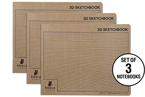 Koala Tools | 2-Point Drawing Perspective Notebook (3 Pack) | 10.35
