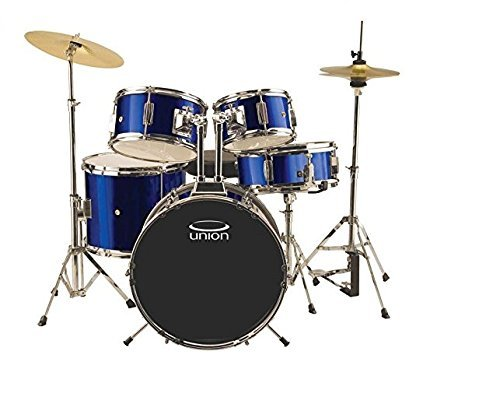 Union DBJ5052(DB) 5-Piece Junior Drum Set with Hardware Cymbal and Throne - Dark Blue [並行輸入品] B07BRZVN8V