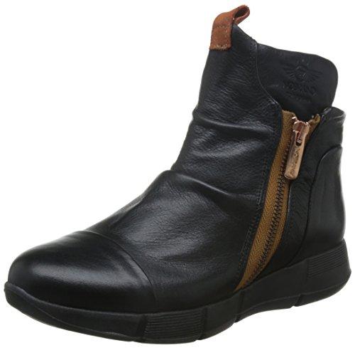 Sapatos Botina Tornozelo De Couro Não Marca Americana Das Mulheres, Preto