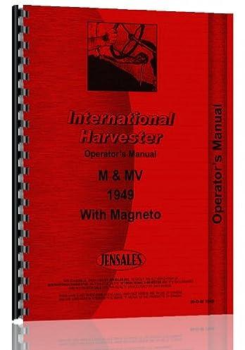 farmall m tractor operators manual 1949 early jensales ag rh amazon com Farmall M Hydraulic Belly Pump farmall m operator's manual pdf