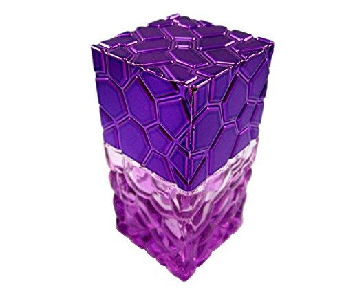 Empty Glass Bottle Head Pump Spray Sprayer Atomizer Refillable Perfume Fragrance Essential Oils 1 oz or 30 ml or 30 cc (Purple)