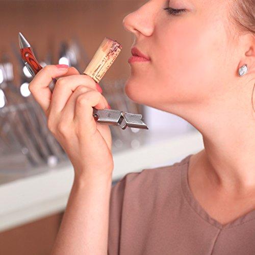 MICHELANGELO Professional Waiters Corkscrew With Rosewood Handle & Bonus Leather Case, Wine Keys, 3-in-1 Double Hinged Corkscrew Wine Bottle Opener With Foil Cutter & Beer Bottle Opener by MICHELANGELO (Image #4)