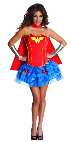 Women's Corseted Tutu Wonder Woman Costume by Crazy Dog Tshirts (Crazy Dog Costumes)