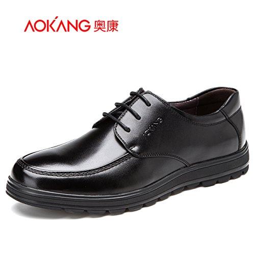 Aemember scarpe da uomo traspirante guida bassa scarpe Business Casual Wear cinturino testa rotonda scarpe comode traspirante ,43, nero