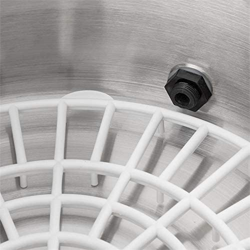 Klarstein Biggie Small Olla eléctrica - Conservadora, Pasteurizadora, Dispensador, Temperatura regulable, 2000 W, 16 L, Temporizador, Acero inoxidable, Plata: Amazon.es: Hogar