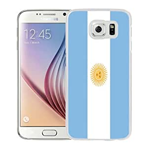 NEW Fashion Custom Designed Cover Case For Samsung Galaxy S6 Argentina Flag White Phone Case