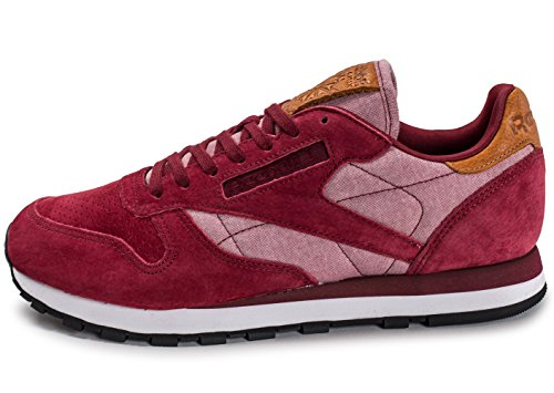 Reebok Classic Leather Chambray Bordeaux Rouge 40