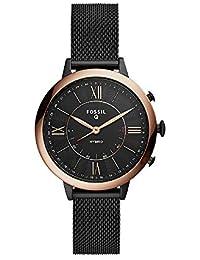 Women's Jacqueline Stainless Steel Mesh Hybrid Smartwatch, Color: Black (Model: FTW5030)
