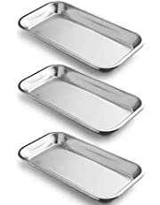 3 Pack Medical Tray Stainless Steel Tattoo Tray Instrument Lab Instrument Dental Tool Medical Dental