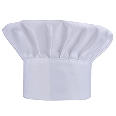 Chef Hat Adjustable Elastic Baker Kitchen Cooking Hat by WearHome(TM)